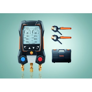 testo 550s Smart Manifold Set - Wireless Temp Probes & Case