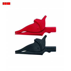 Set of safety crocodile clips for (0590 0011/