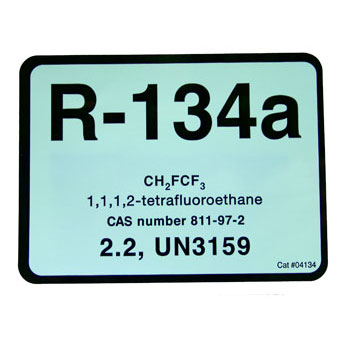 Refrigerant ID Labels (pack 10) 75 x 100mm -