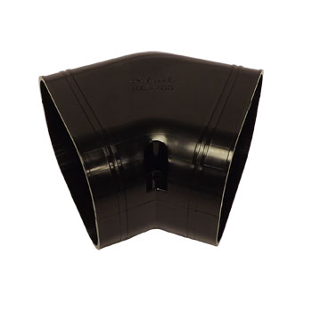 Inaba Denko Black 75mm Flat Elbow 45 deg