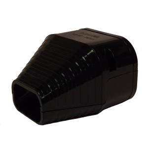 Slimduct - 100mm Duct End - Black