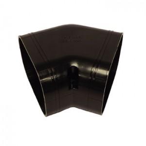 Slimduct - 100mm 45 Deg Flat Bend - Black