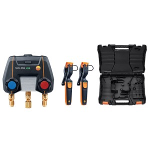testo 550i Smart Manifold Set - Wireless Temp Probes & Case