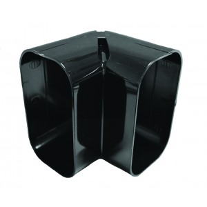 ASHP Duct Internal Corner 140mm - Black